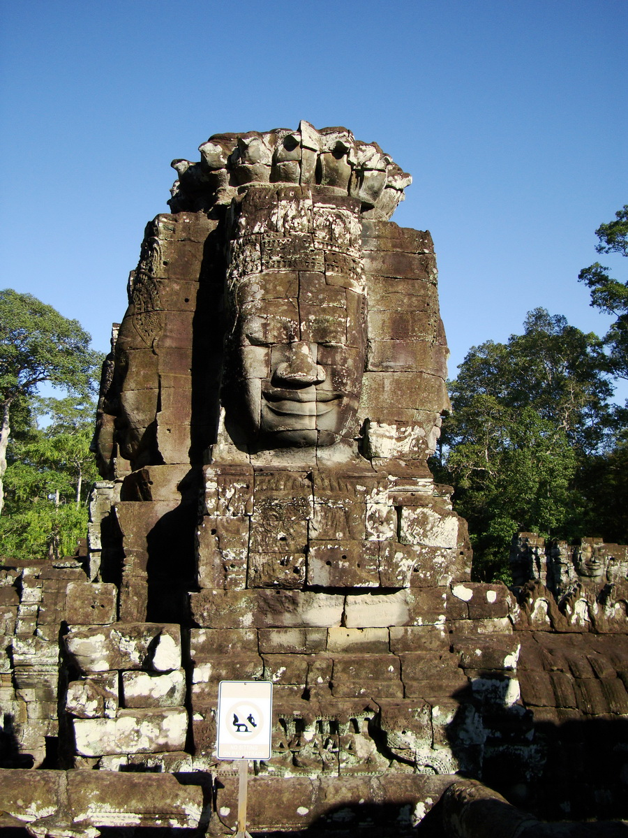Bayon Temple NW inner gallery face towers Angkor Siem Reap 31