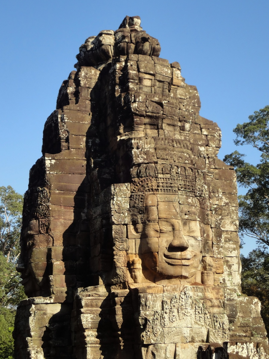 Bayon Temple NW inner gallery face towers Angkor Siem Reap 32