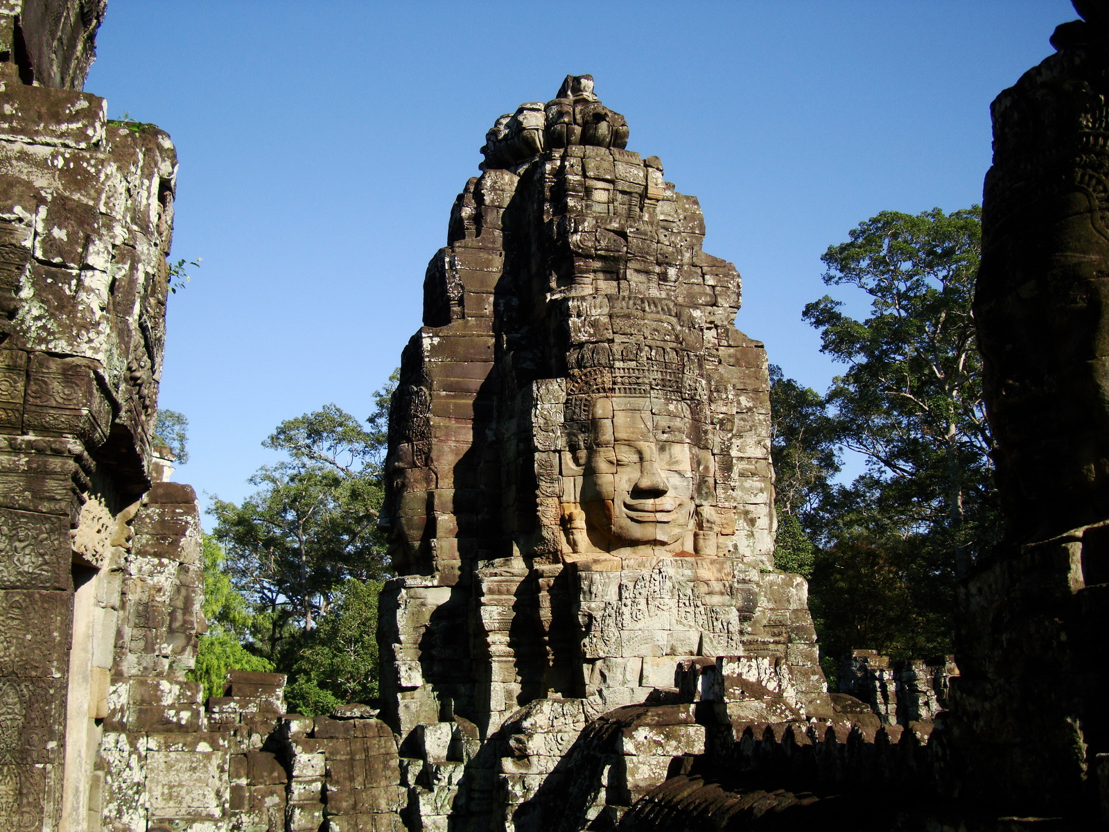 Bayon Temple NW inner gallery face towers Angkor Siem Reap 33