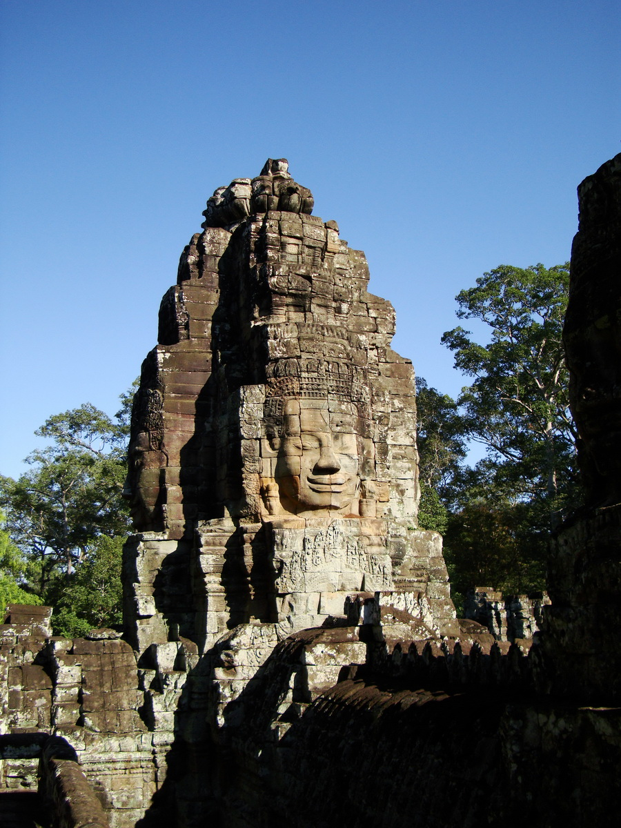Bayon Temple NW inner gallery face towers Angkor Siem Reap 35