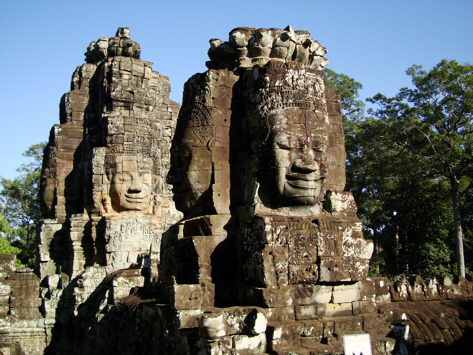Bayon Temple NW inner gallery face towers Angkor Siem Reap 36