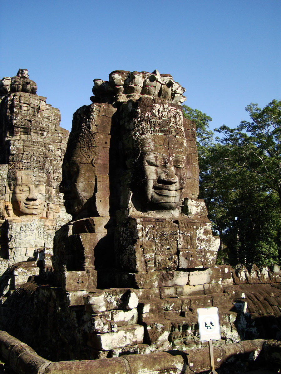 Bayon Temple NW inner gallery face towers Angkor Siem Reap 37