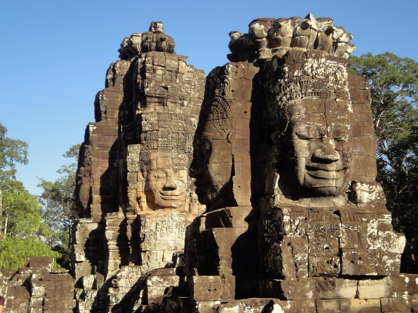 Bayon Temple NW inner gallery face towers Angkor Siem Reap 38