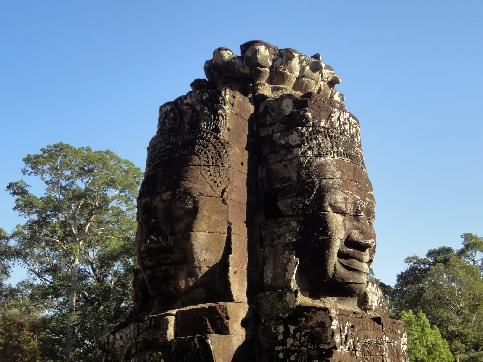 Bayon Temple NW inner gallery face towers Angkor Siem Reap 39