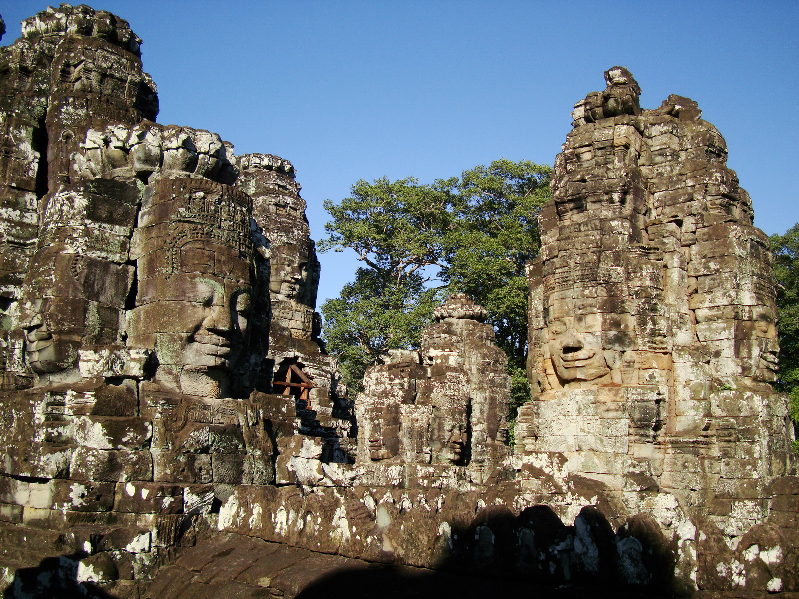 Bayon Temple NW inner gallery face towers Angkor Siem Reap 41