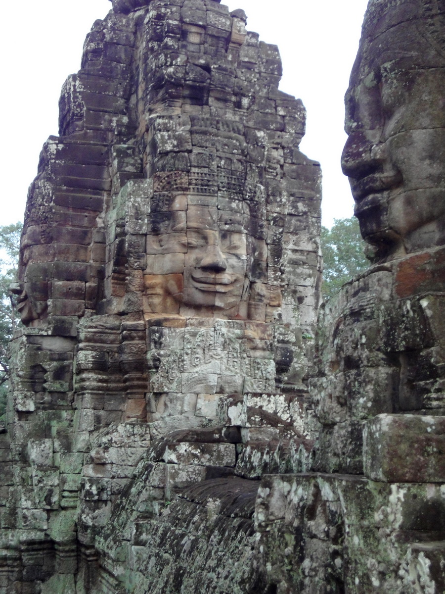 Bayon Temple NW inner gallery face towers Angkor Siem Reap 42
