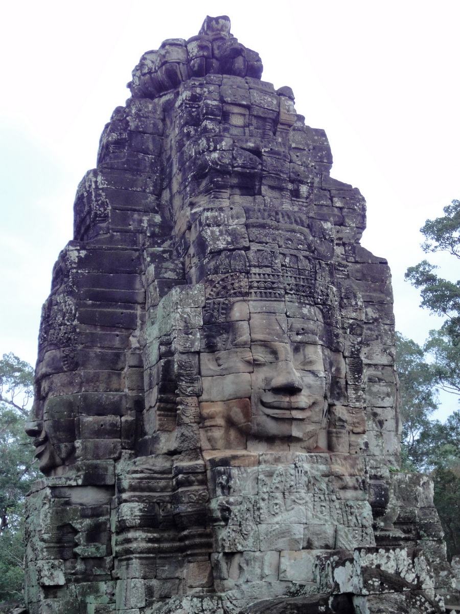 Bayon Temple NW inner gallery face towers Angkor Siem Reap 43