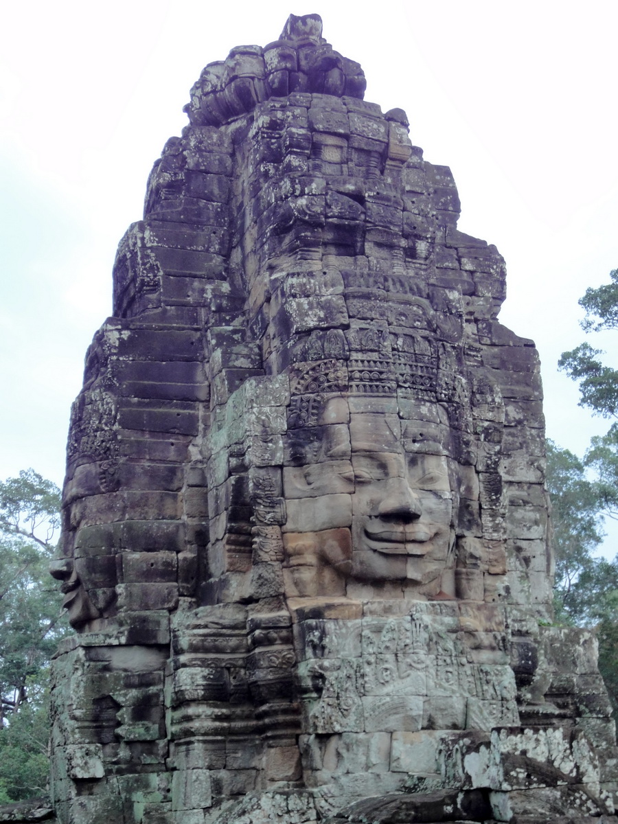 Bayon Temple NW inner gallery face towers Angkor Siem Reap 44