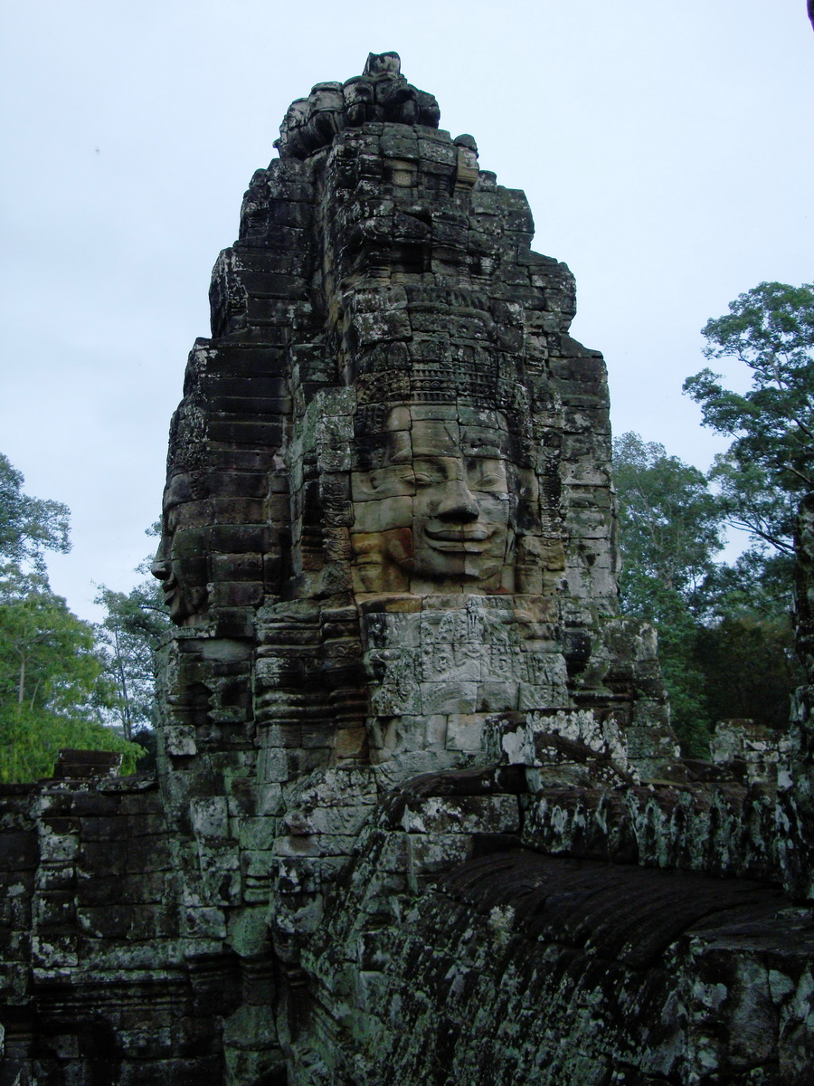 Bayon Temple NW inner gallery face towers Angkor Siem Reap 45