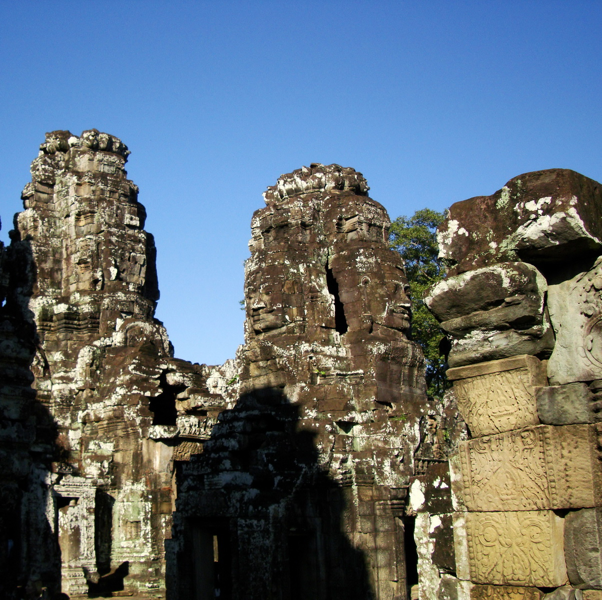 Bayon Temple NW inner gallery face towers Angkor Siem Reap 46