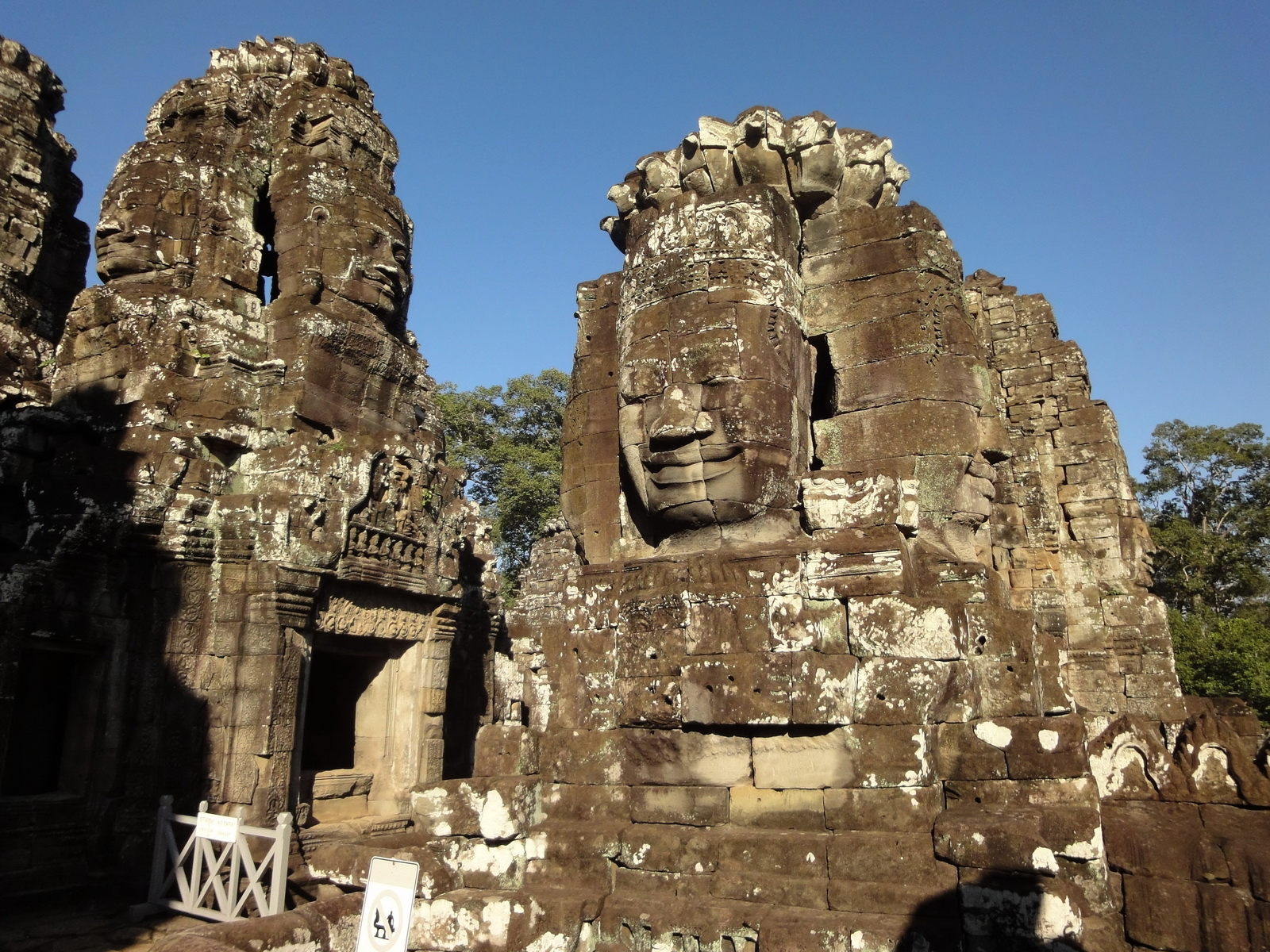 Bayon Temple NW inner gallery face towers Angkor Siem Reap 48