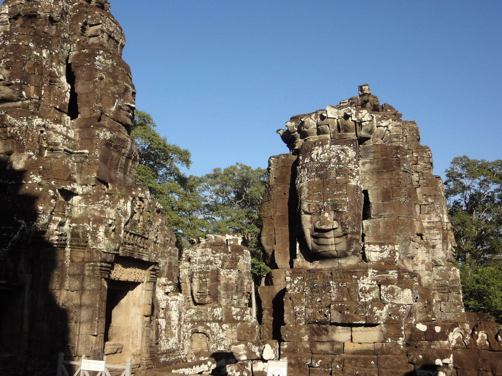 Bayon Temple NW inner gallery face towers Angkor Siem Reap 49