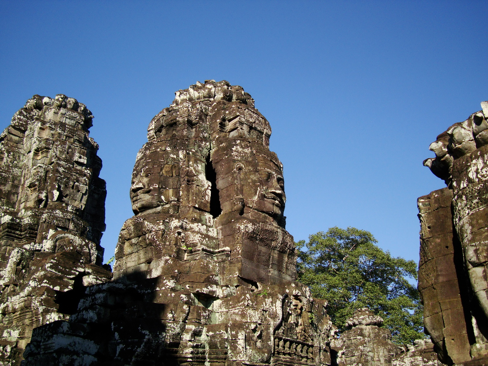 Bayon Temple NW inner gallery face towers Angkor Siem Reap 50