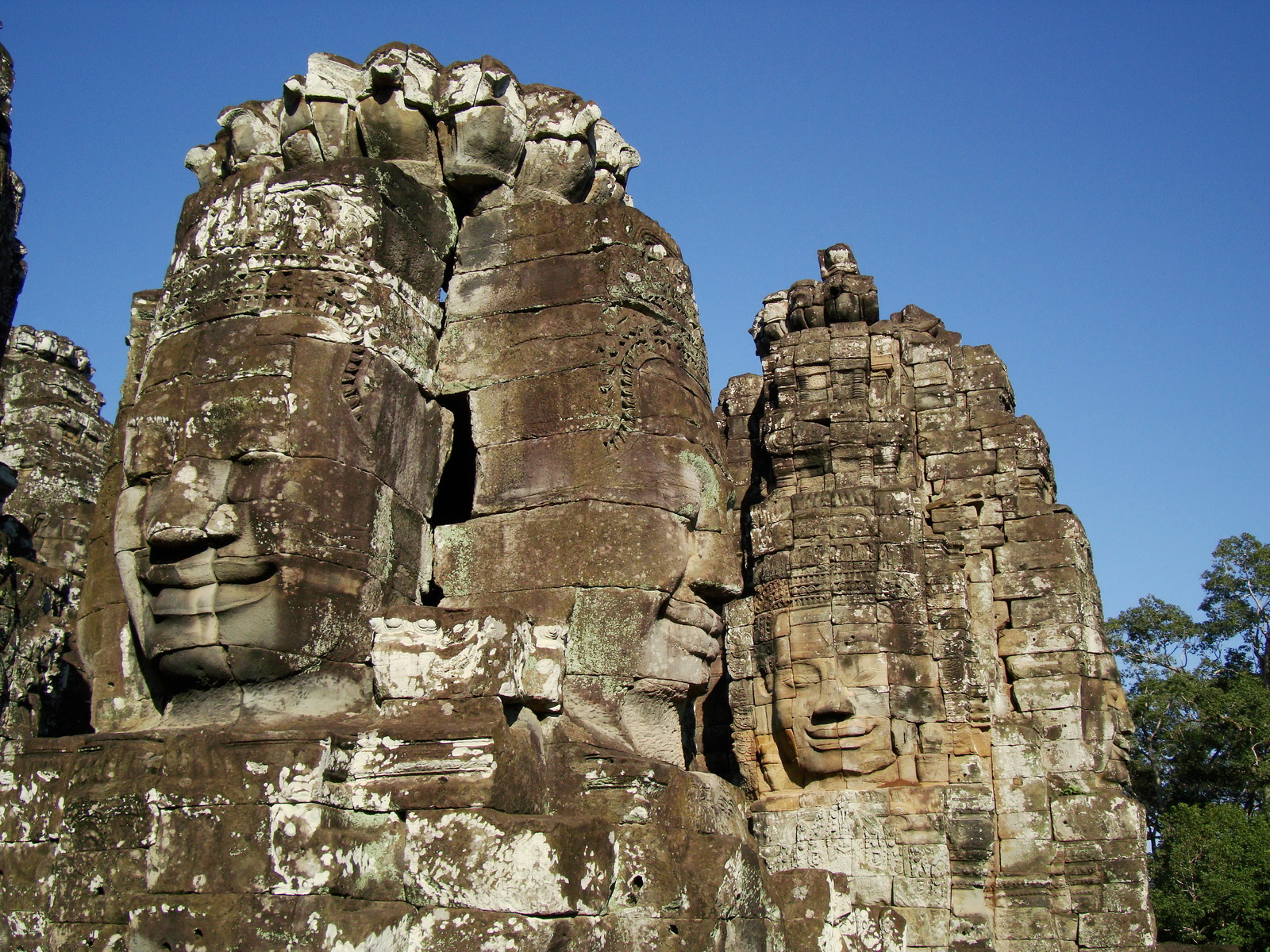 Bayon Temple NW inner gallery face towers Angkor Siem Reap 52
