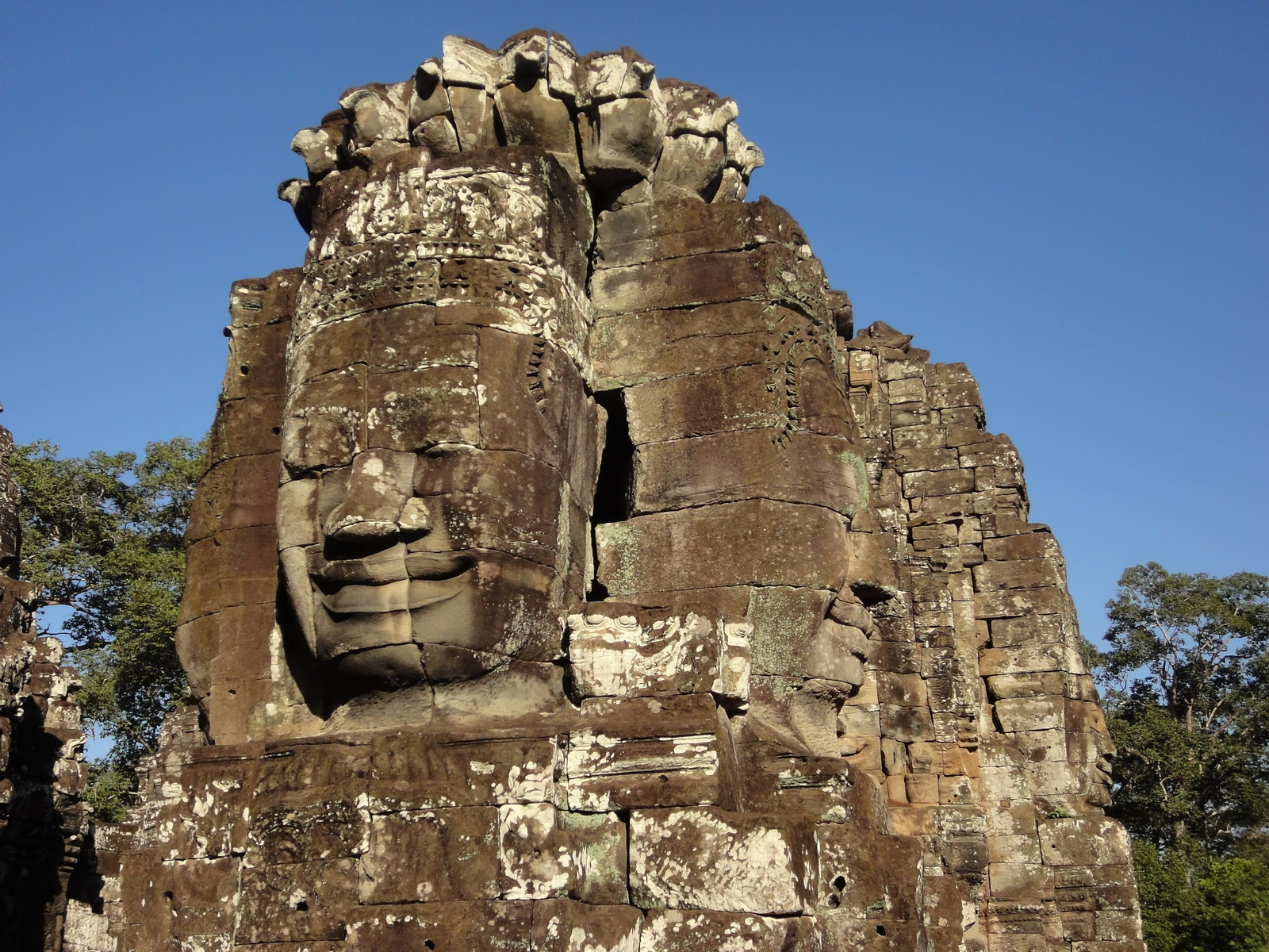 Bayon Temple NW inner gallery face towers Angkor Siem Reap 53