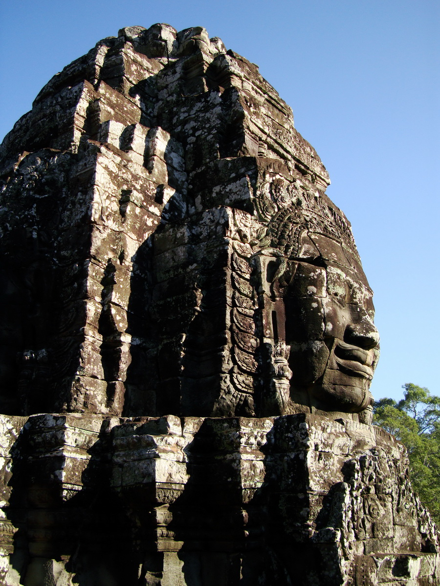 Bayon Temple NW inner gallery face towers Angkor Siem Reap 56