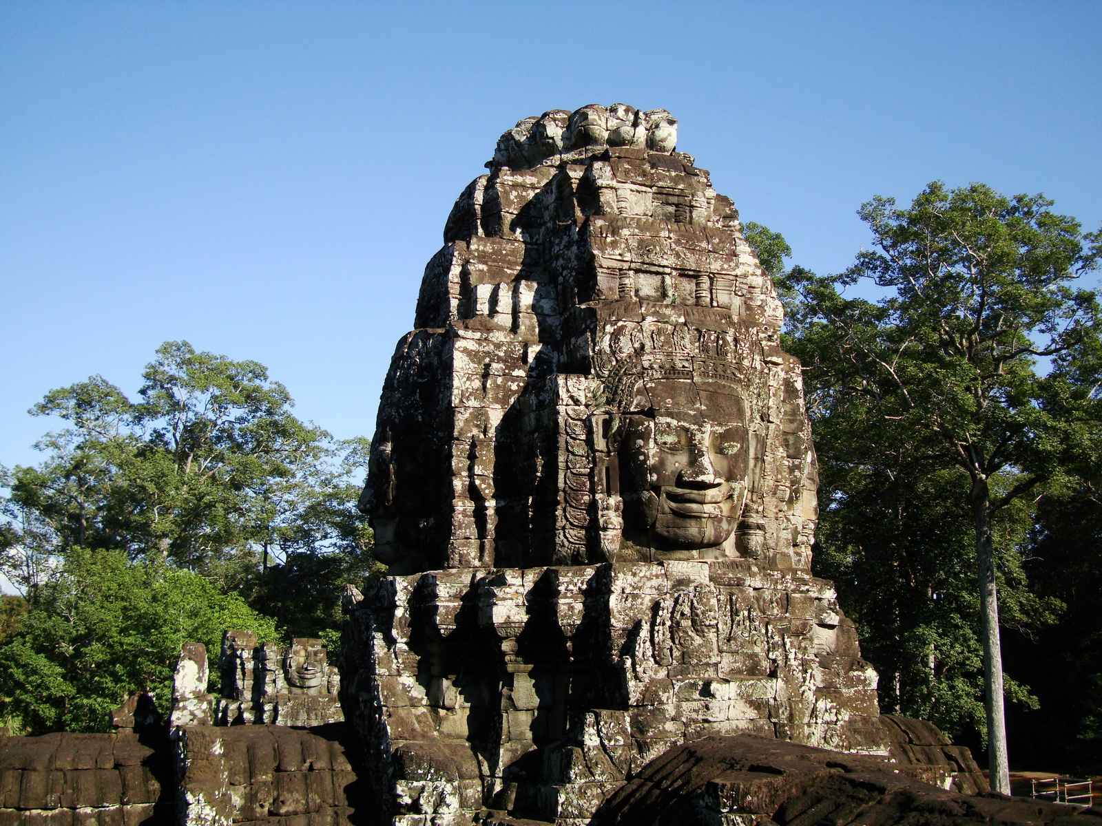 Bayon Temple NW inner gallery face towers Angkor Siem Reap 57