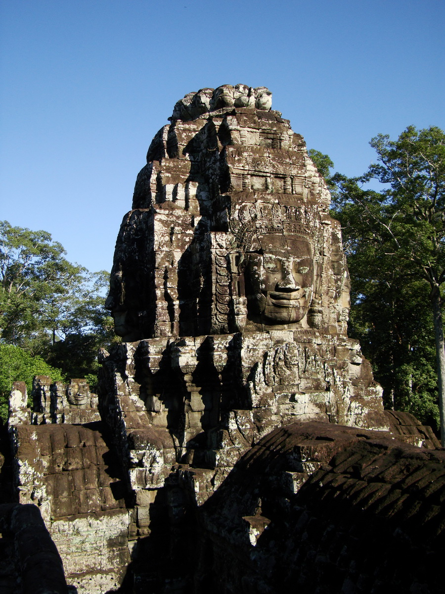 Bayon Temple NW inner gallery face towers Angkor Siem Reap 58