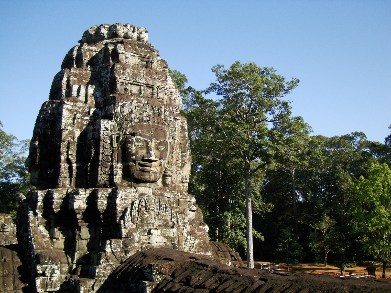 Bayon Temple NW inner gallery face towers Angkor Siem Reap 59
