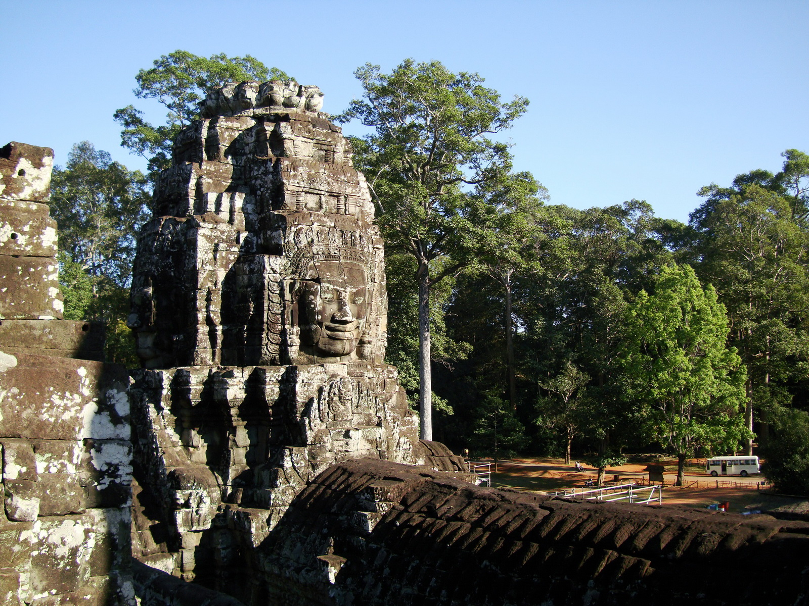 Bayon Temple NW inner gallery face towers Angkor Siem Reap 60