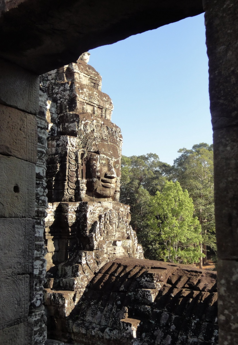 Bayon Temple NW inner gallery face towers Angkor Siem Reap 61