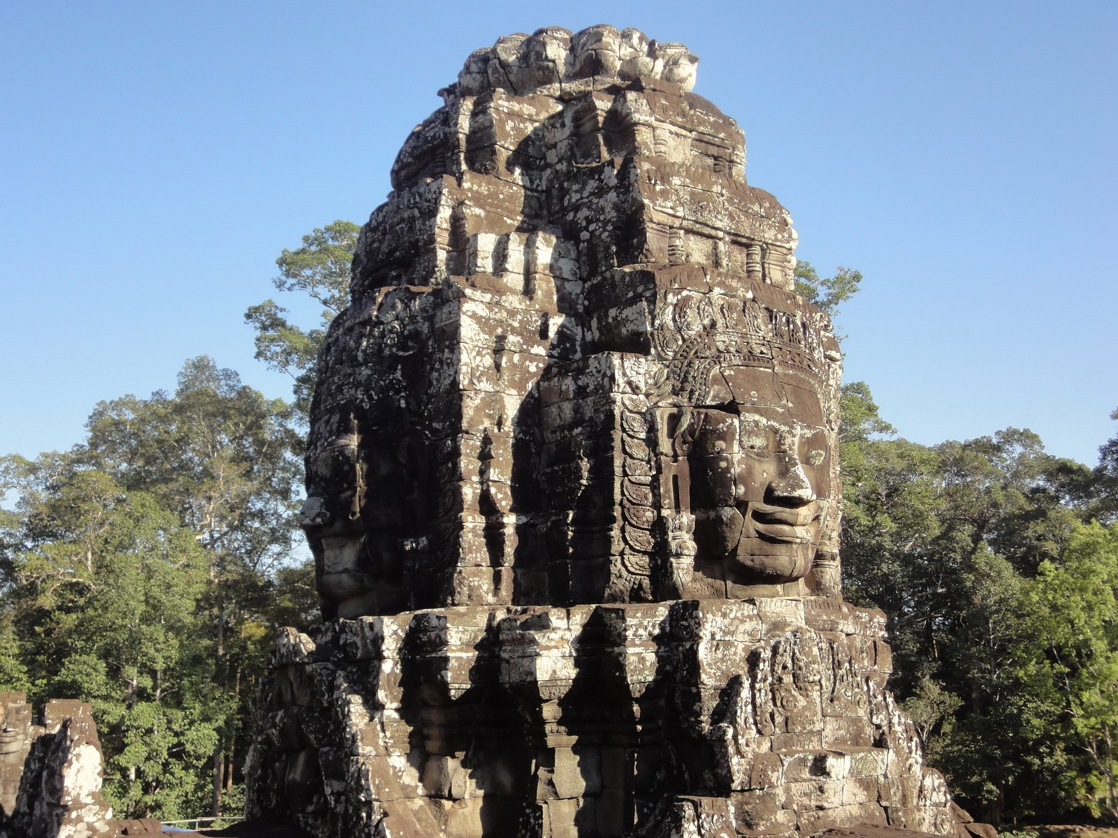 Bayon Temple NW inner gallery face towers Angkor Siem Reap 62