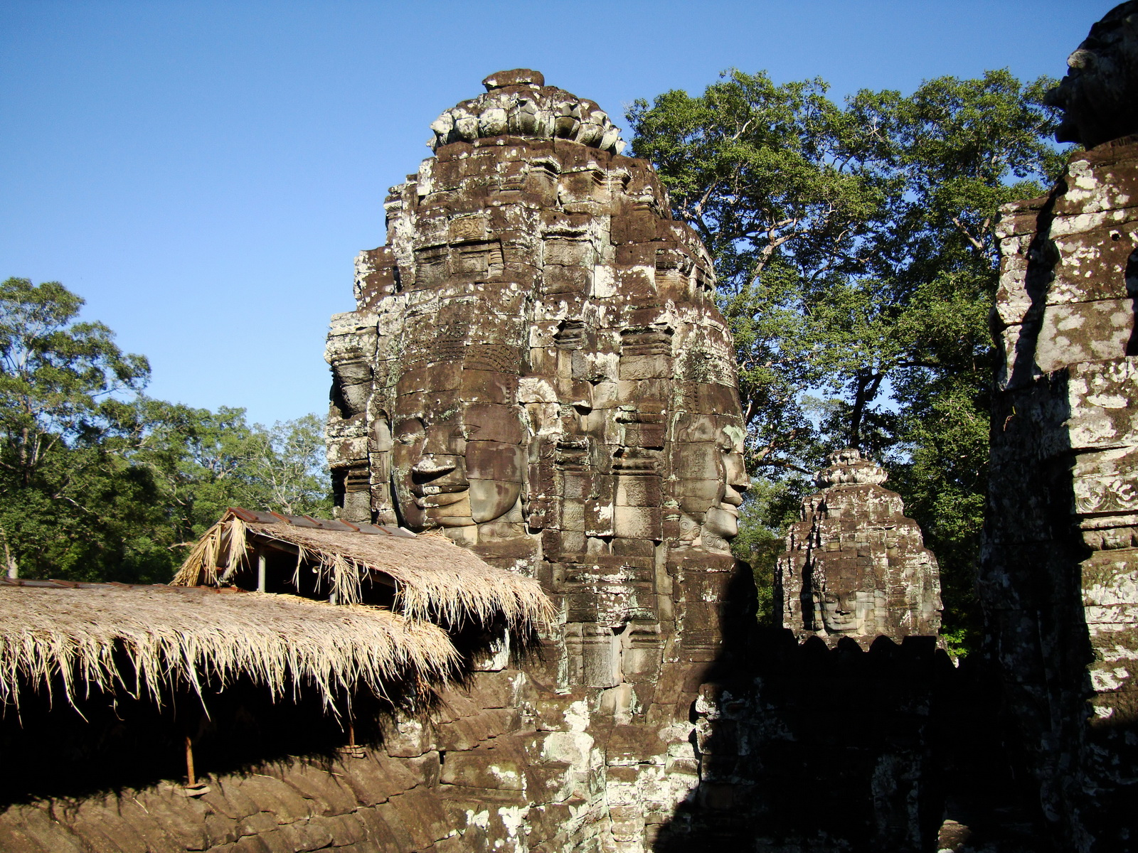 Bayon Temple SW corner inner gallery face tower Angkor Siem Reap 03