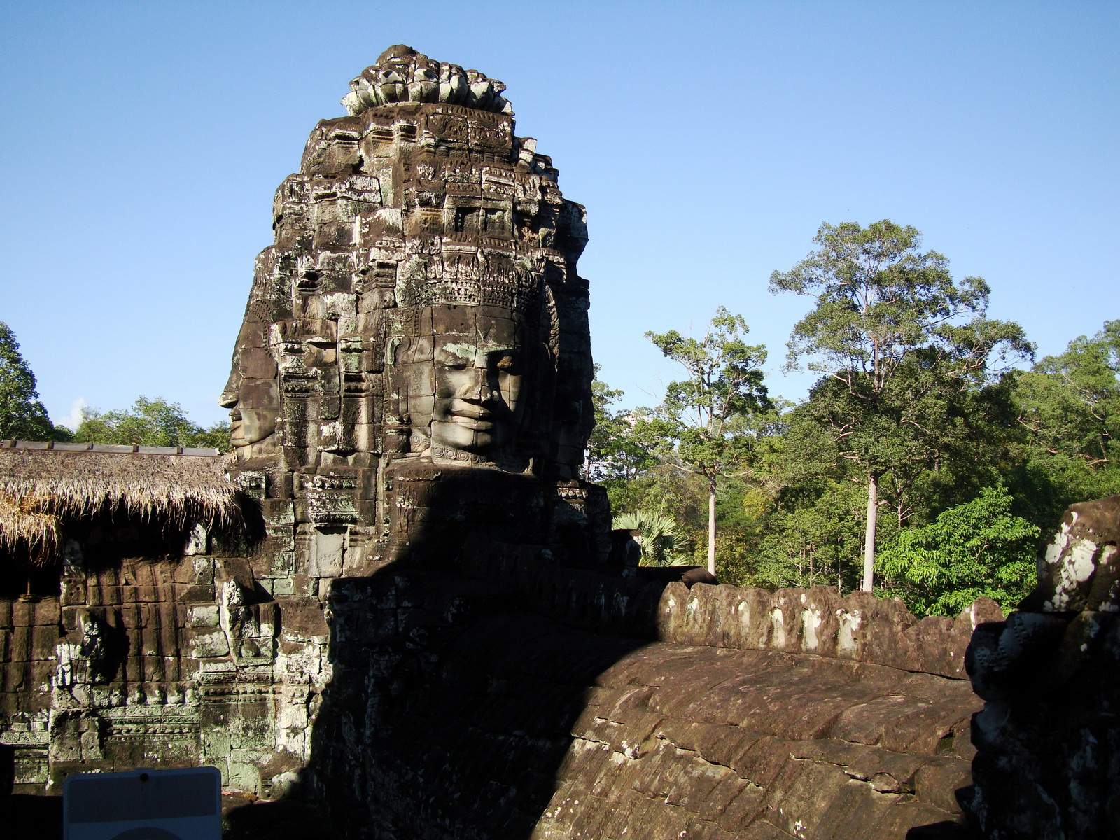 Bayon Temple SW corner inner gallery face tower Angkor Siem Reap 04