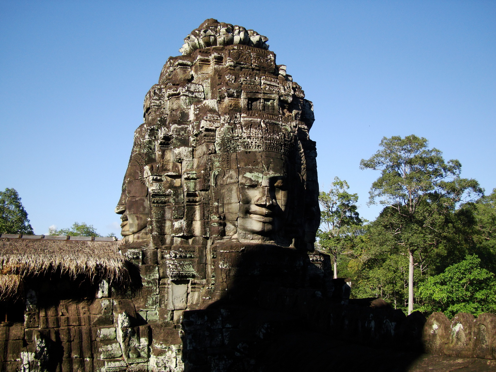 Bayon Temple SW corner inner gallery face tower Angkor Siem Reap 07