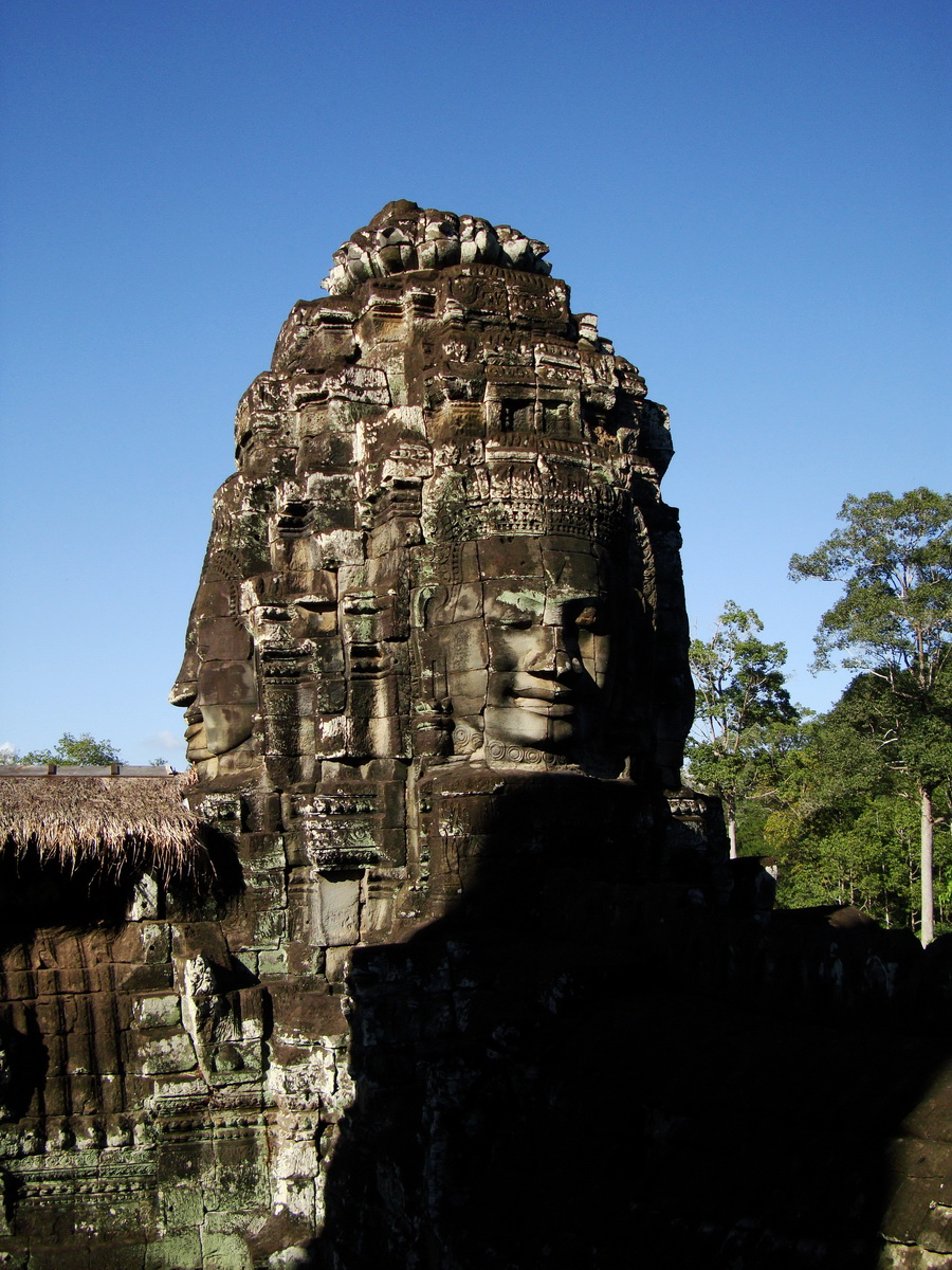 Bayon Temple SW corner inner gallery face tower Angkor Siem Reap 08