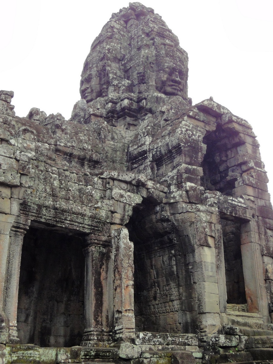 Bayon Temple SW corner inner gallery face tower Angkor Siem Reap 11