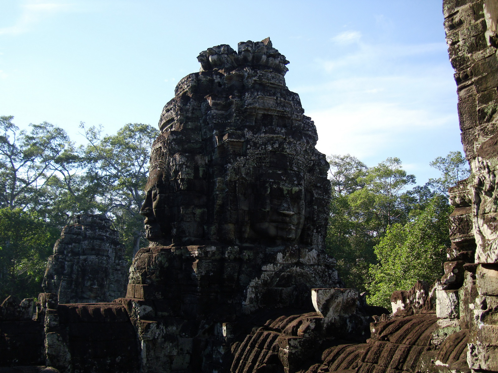 Bayon Temple SW inner gallery corner face towers Angkor Siem Reap 07