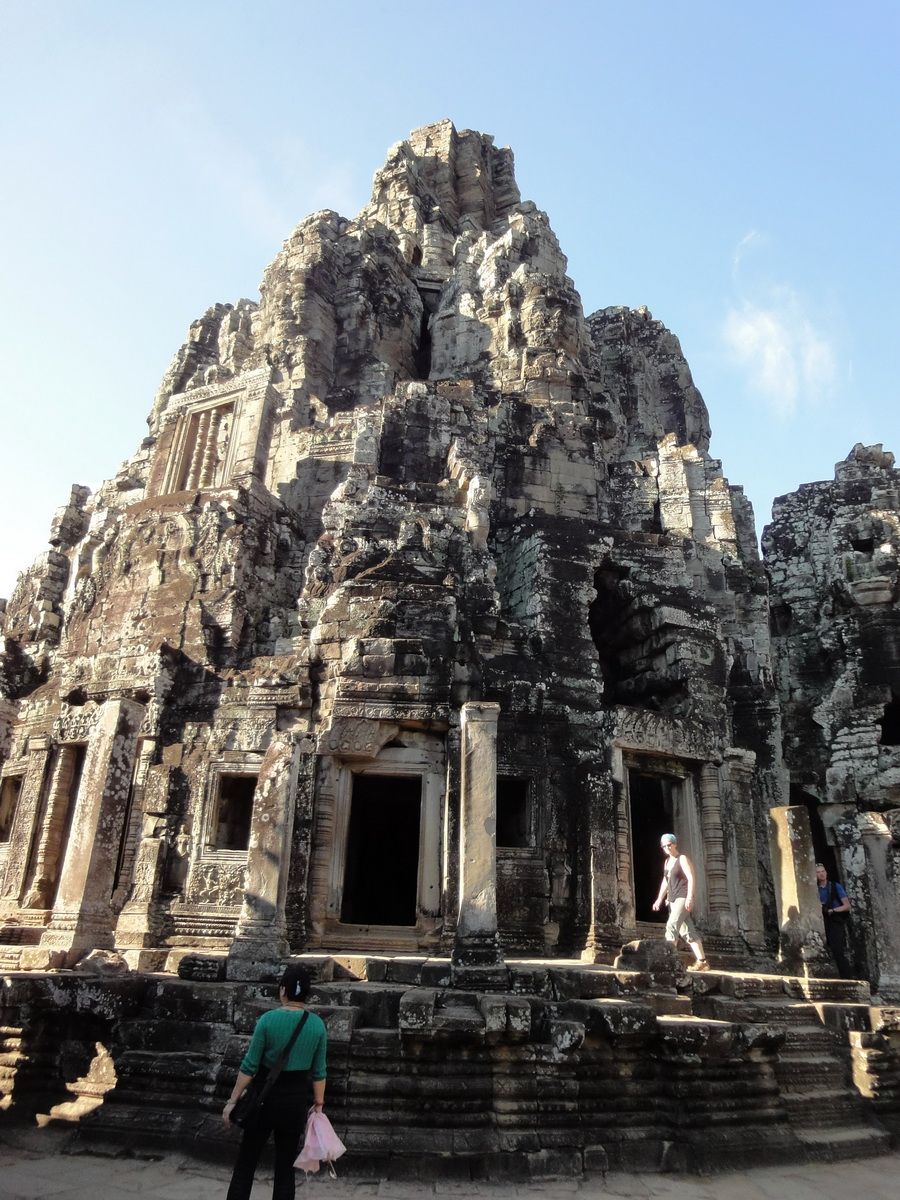 Bayon Temple central face tower Angkor Siem Reap 01