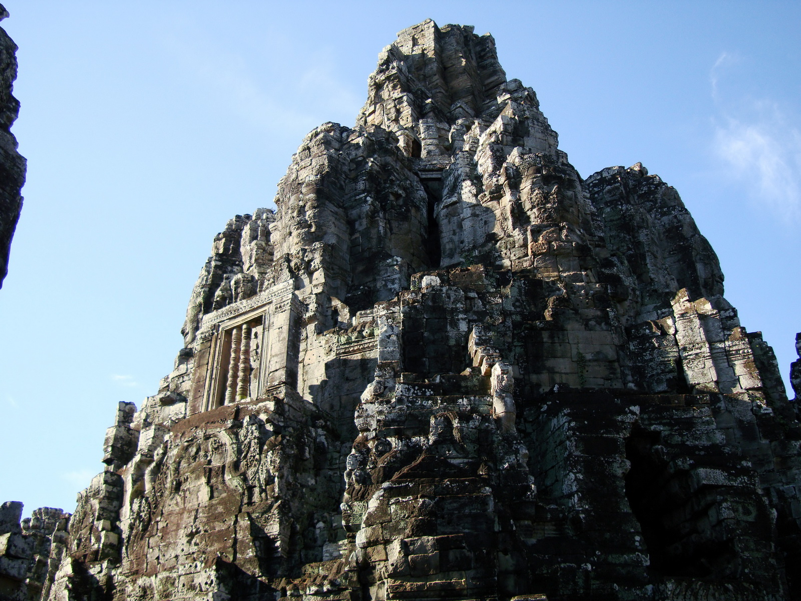 Bayon Temple central face tower Angkor Siem Reap 02
