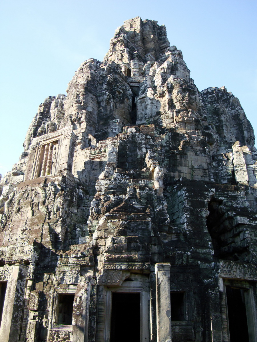 Bayon Temple central face tower Angkor Siem Reap 03