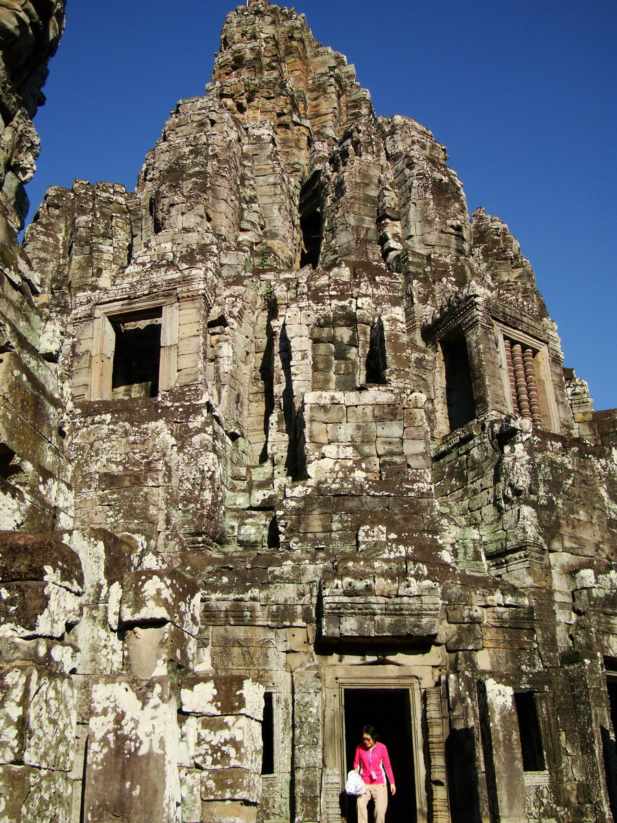 Bayon Temple central face tower Angkor Siem Reap 05