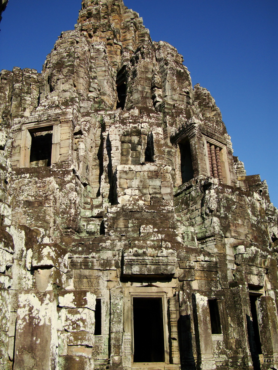 Bayon Temple central face tower Angkor Siem Reap 06