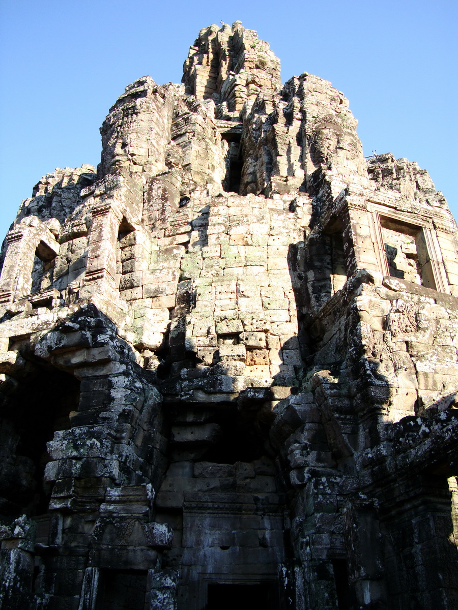 Bayon Temple central face tower Angkor Siem Reap 08