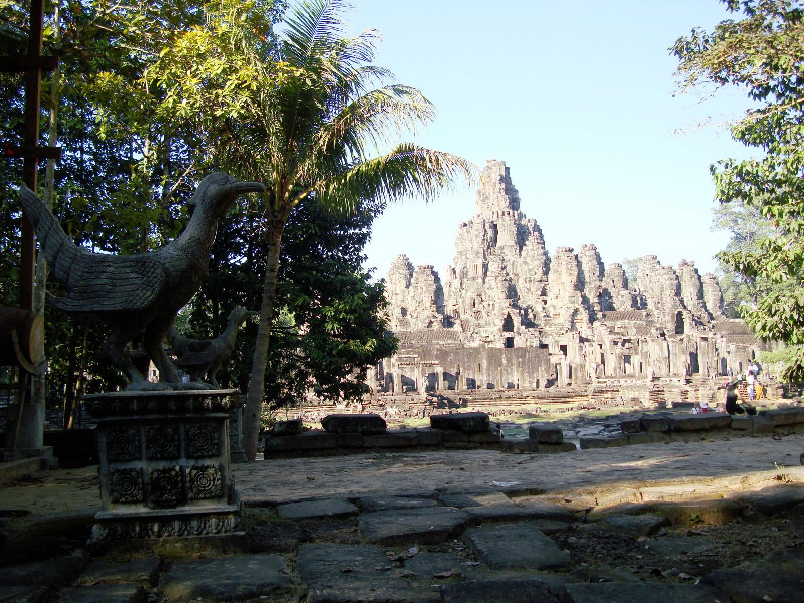 Bayon Temple panoramic views of Northern outer walls Angkor Jan 2010 01