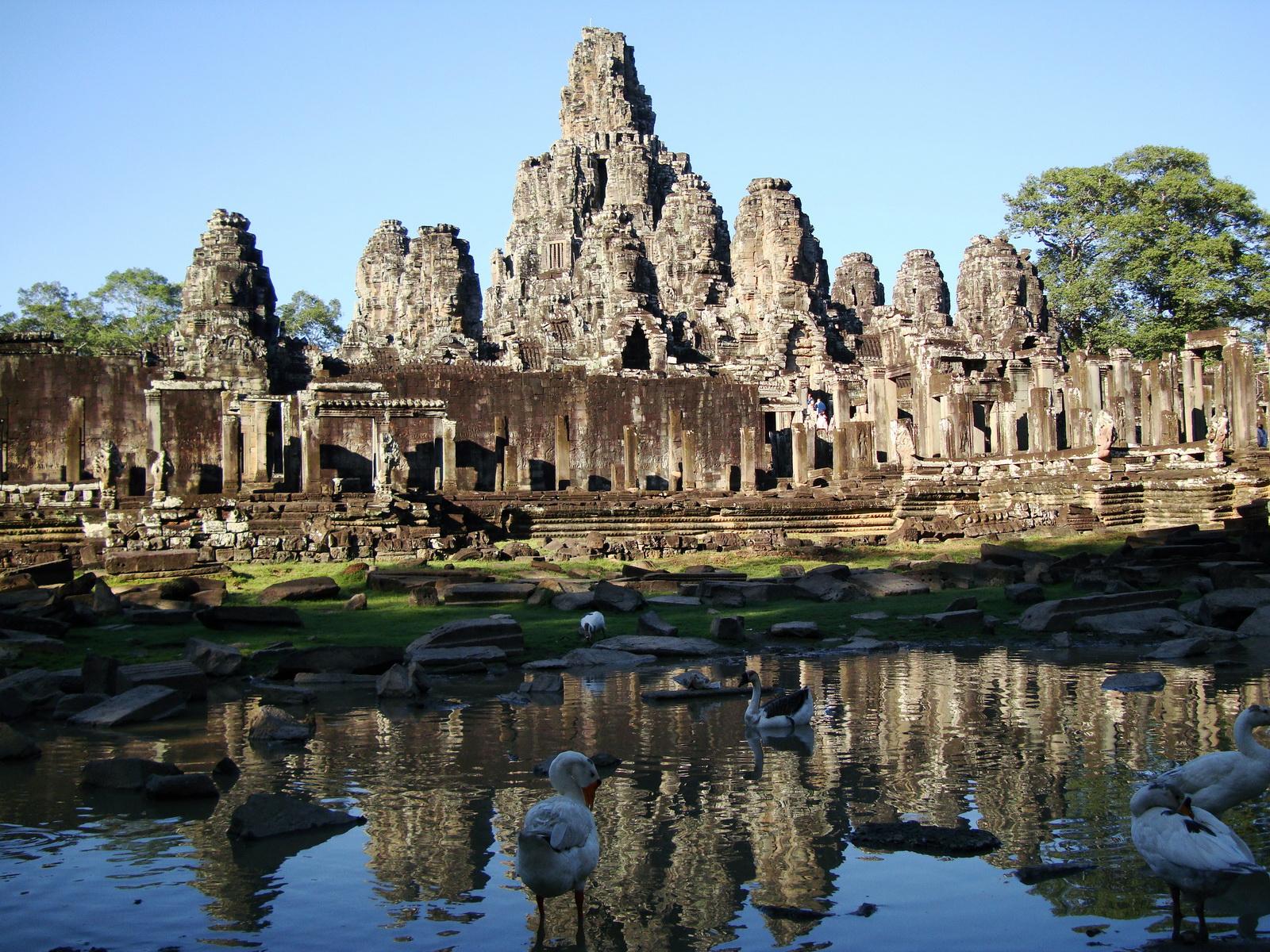 Bayon Temple panoramic views of Northern outer walls Angkor Jan 2010 03