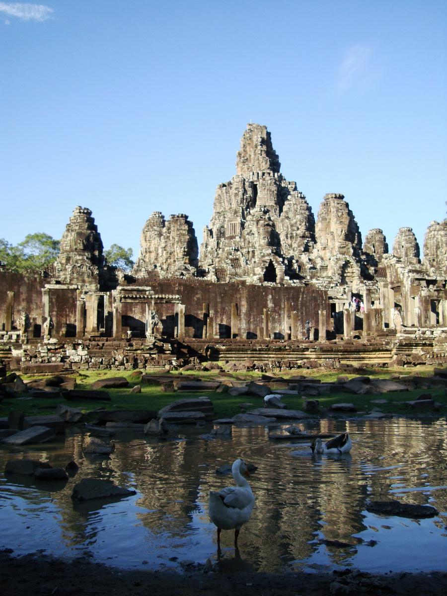 Bayon Temple panoramic views of Northern outer walls Angkor Jan 2010 05