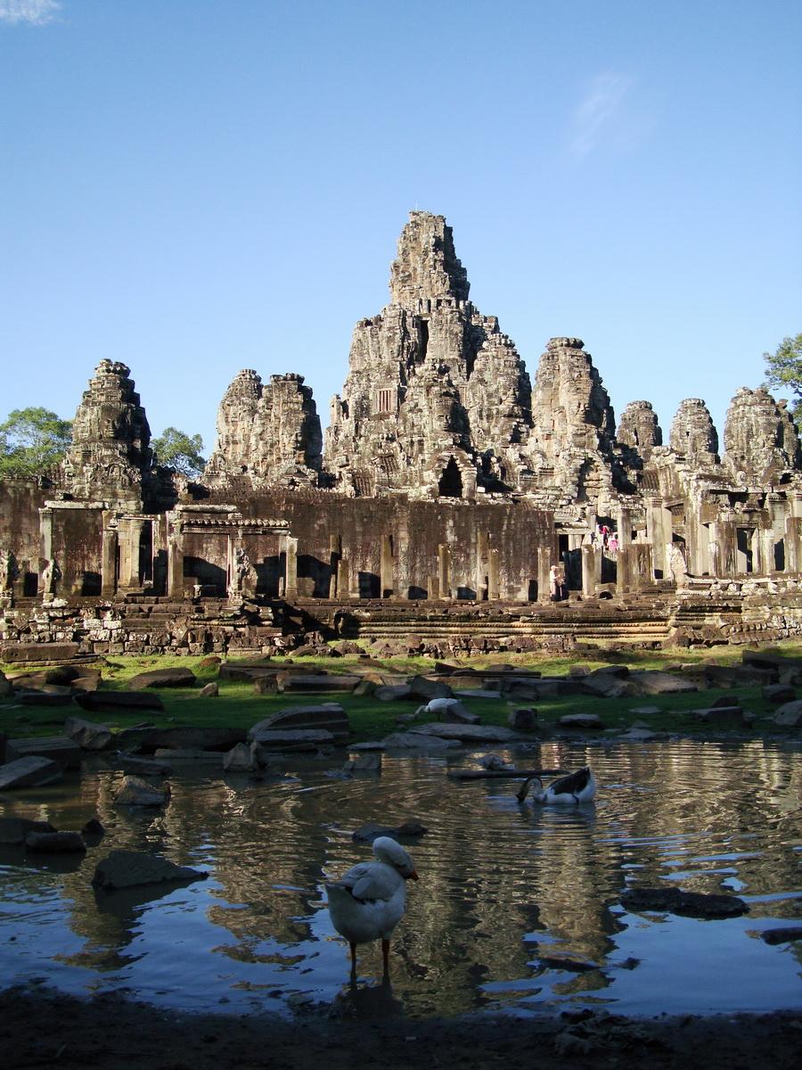 Bayon Temple panoramic views of Northern outer walls Angkor Jan 2010 06