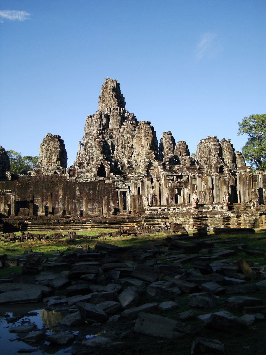 Bayon Temple panoramic views of Northern outer walls Angkor Jan 2010 07