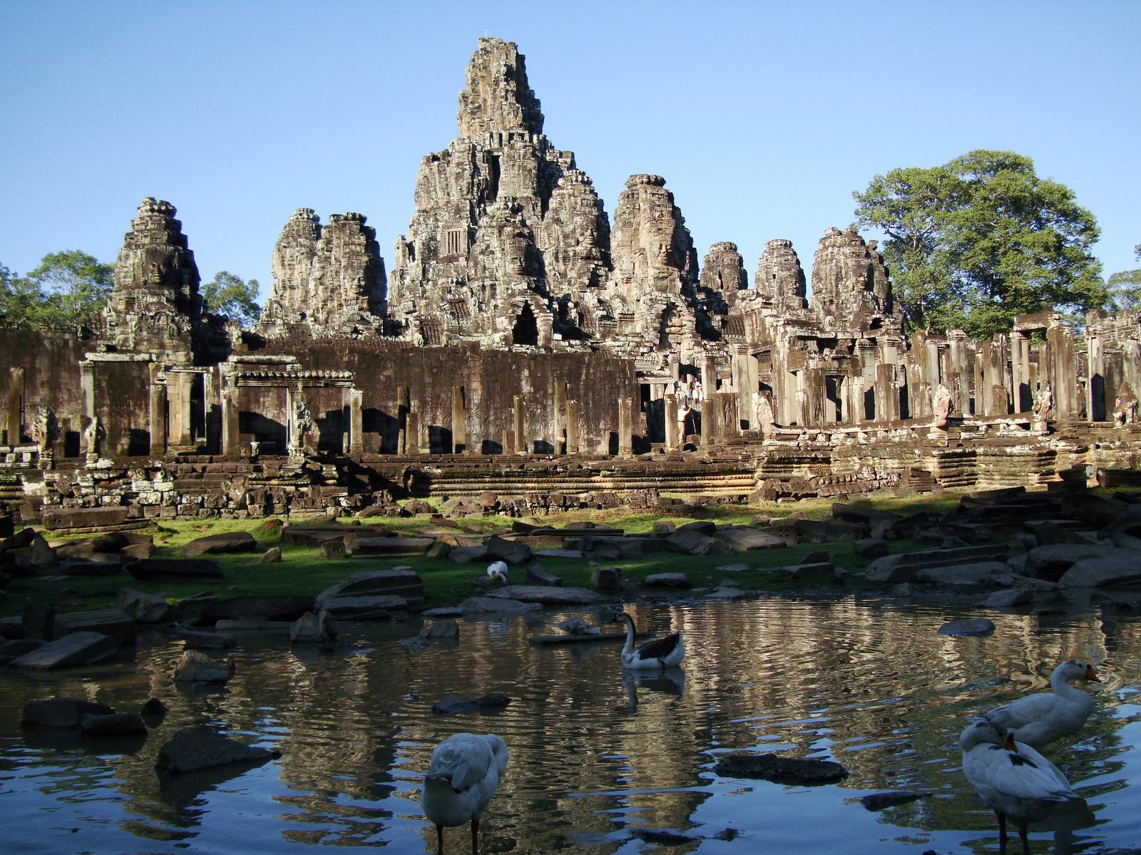 Bayon Temple panoramic views of Northern outer walls Angkor Jan 2010 08