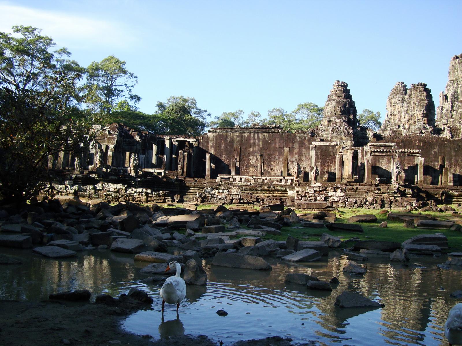 Bayon Temple panoramic views of Northern outer walls Angkor Jan 2010 09