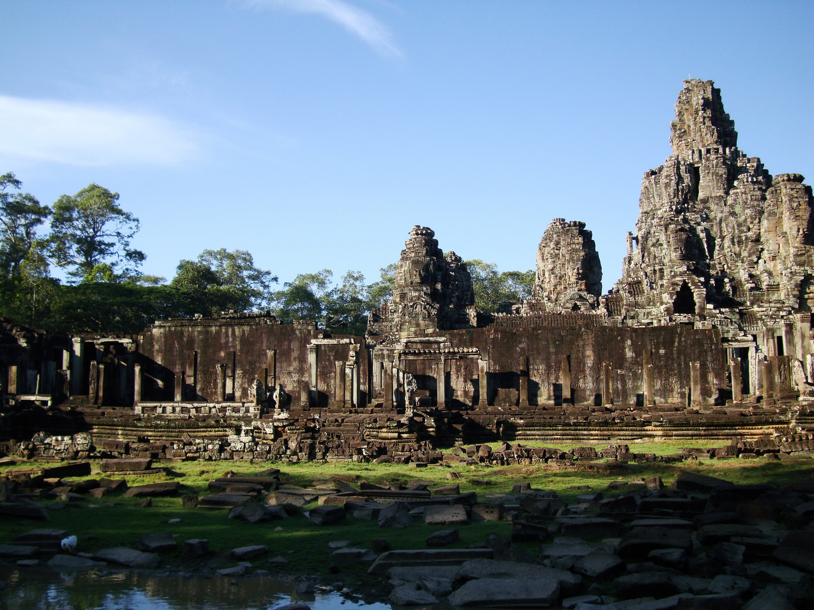 Bayon Temple panoramic views of Northern outer walls Angkor Jan 2010 10