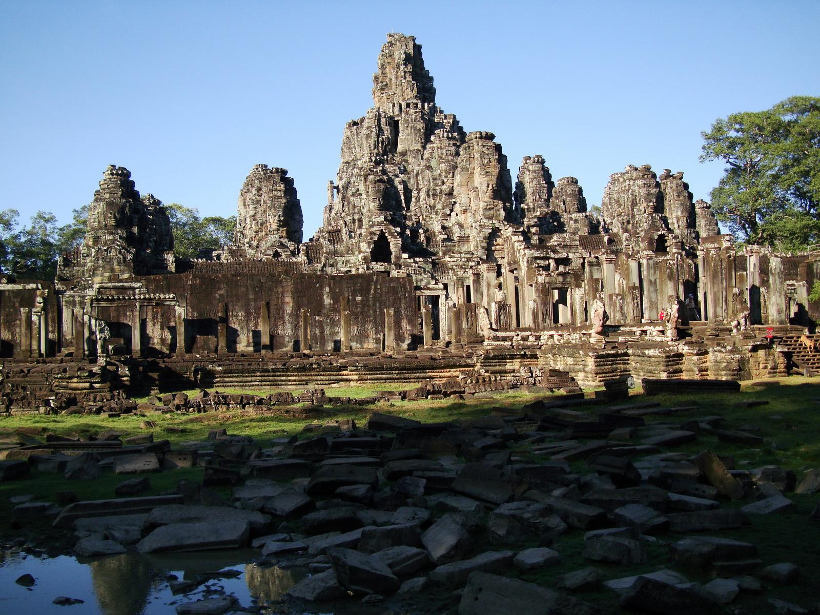 Bayon Temple panoramic views of Northern outer walls Angkor Jan 2010 11