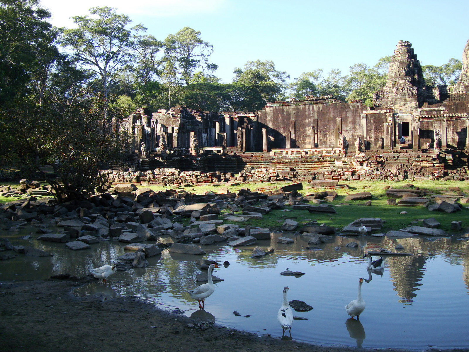 Bayon Temple panoramic views of Northern outer walls Angkor Jan 2010 12