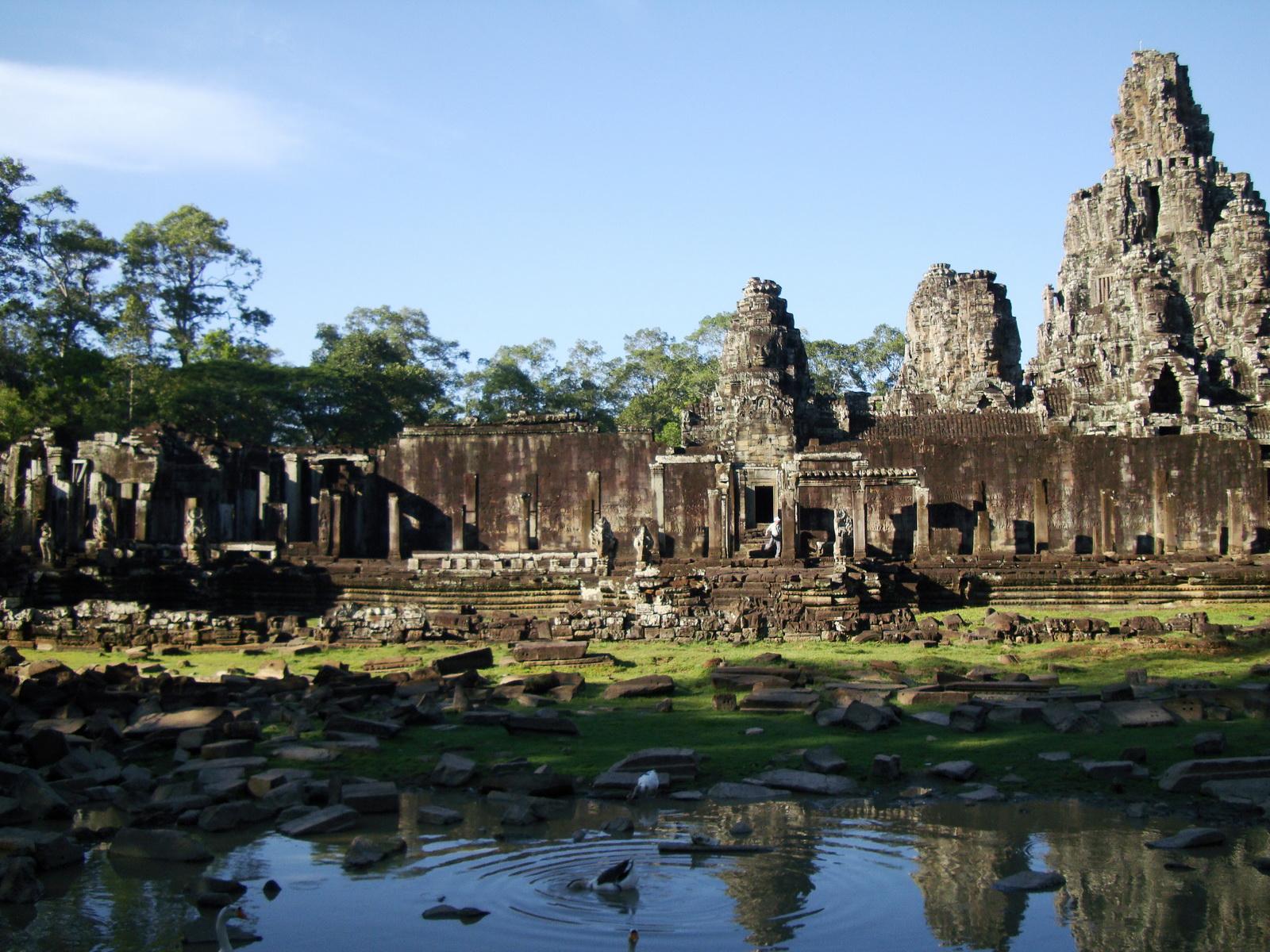 Bayon Temple panoramic views of Northern outer walls Angkor Jan 2010 13