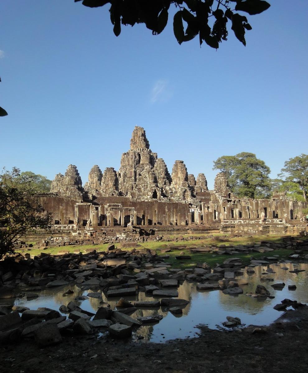 Bayon Temple panoramic views of Northern outer walls Angkor Jan 2010 14